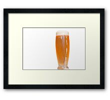 glass of Mauritian beer Framed Print
