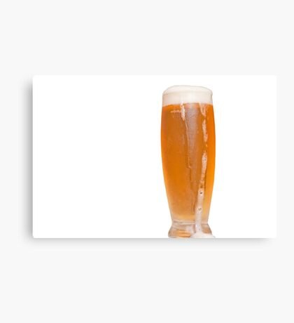 glass of Mauritian beer Canvas Print