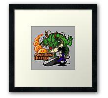 Shenron Hunter Framed Print