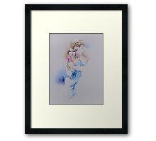 """Geschenkte Rose"" Pastel Pencil Artwork Framed Print"