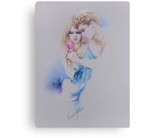 """""""Geschenkte Rose"""" Pastel Pencil Artwork Canvas Print"""
