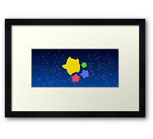 Lumas (Yellow, Red, Blue, Green) Framed Print