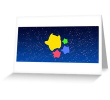 Lumas (Yellow, Red, Blue, Green) Greeting Card