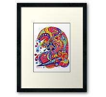 Shiva Surfing Framed Print