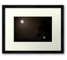 The moon is made of green cheese Framed Print