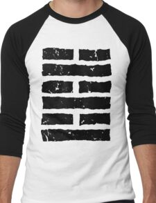 Arashikage Distressed Black Men's Baseball ¾ T-Shirt