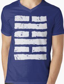 Arashikage Distressed White Mens V-Neck T-Shirt