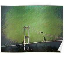 The Severn bridge from Aust Poster