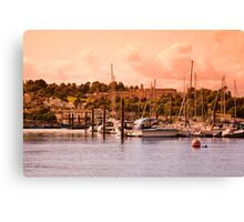 Boats on the River Dart Canvas Print