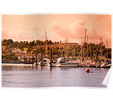 Boats on the River Dart Poster