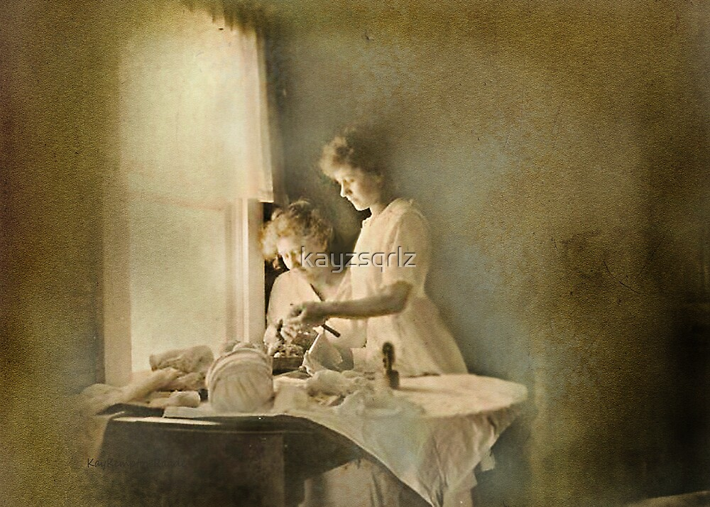 Chores at the Window by Kay Kempton Raade