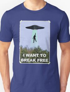 Freddie Goes Home - Queen/X-Files Mashup T-Shirt