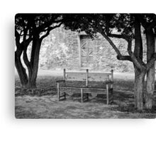 Bench Under a Tree Canvas Print