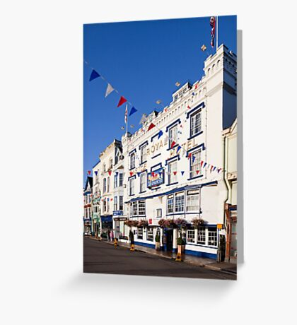 The Royal Castle Hotel, Dartmouth Greeting Card