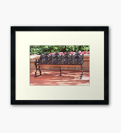 Classic Bench Framed Print