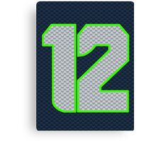 SEAHAWKS - SUPER FAN 12 Canvas Print