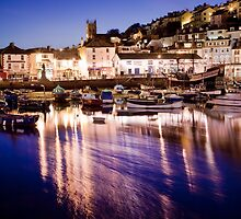 Brixham Marina by Night by Kerry Dunstone