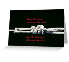 Knotted Love Greeting Card