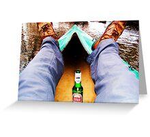 Relaxed kayaking  Greeting Card