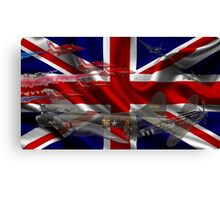 AIRCRAFT AND UNION JACK Canvas Print