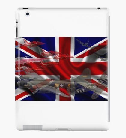 AIRCRAFT AND UNION JACK iPad Case/Skin