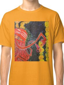 Unsatiated - A Red Lady With A Stack Of Cookies Classic T-Shirt