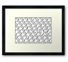 Glamour Bird in Black White 01 Framed Print