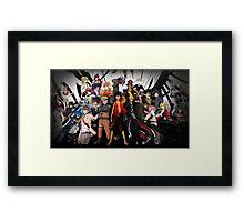 Anime Mix (3) Framed Print