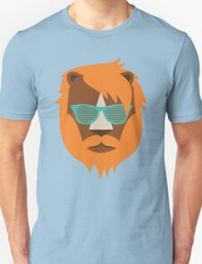 Cute Lion Hipster Animal With Funky Glasses T-Shirt