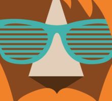 Cute Lion Hipster Animal With Funky Glasses Sticker