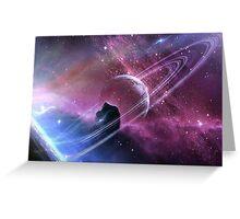 Space Dust Ricochet  Greeting Card