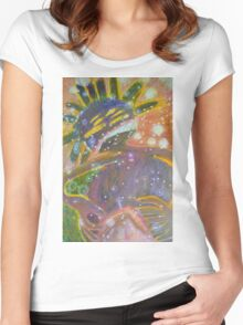 There's Death In Me Still - Abstract Portrait Women's Fitted Scoop T-Shirt