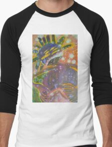 There's Death In Me Still - Abstract Portrait Men's Baseball ¾ T-Shirt