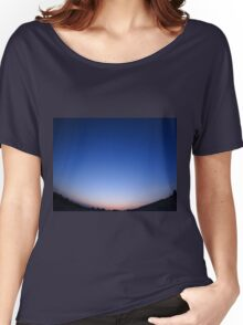 Clear skies over the city after sunset Women's Relaxed Fit T-Shirt