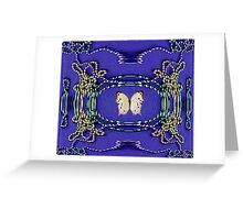 Ivory Butterfly Greeting Card