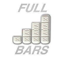 FULL XANAX BARS WHITE Photographic Print