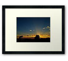 Sunray Night Framed Print