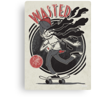 Wasted Youth Canvas Print