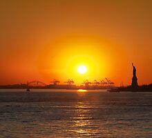 Statue of Liberty at Dusk by Alexandru Barabas