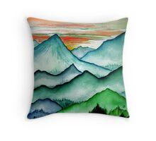 Through Steep Hills Throw Pillow
