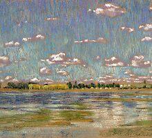 Nubes sobre la laguna - Las Flores by illapati