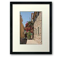The streets of Herceg Novi Framed Print