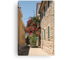The streets of Herceg Novi Canvas Print