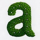 Topiary Alphabet &quot;a&quot; Coloured by Donnahuntriss