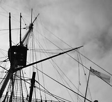 Rigging and Flag, H.M.S. Victory by Matthew Floyd