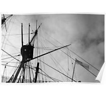 Rigging and Flag, H.M.S. Victory Poster