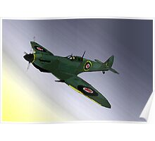 Spitfire at night Poster