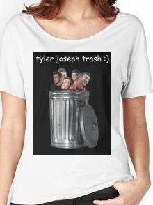 Tyler Joseph Trash (Black) Women's Relaxed Fit T-Shirt