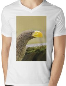 Steller's Sea Eagle (Haliaeetus pelagicus) Mens V-Neck T-Shirt