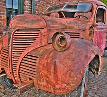 Old Red Truck by J. Day
